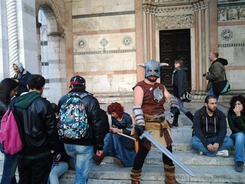 Lucca comics and games:un guerriero vikingo