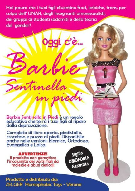 Barbie sentinella in piedi