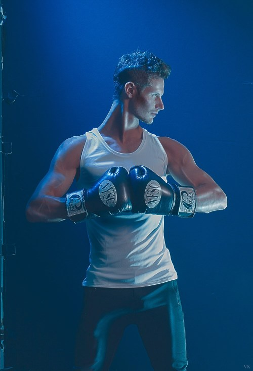 Special submitting a new story for all of us with dashing beautiful model Wesley Campbell at the front of the camera and behind is photographer Viktor Klimenko, story entitled Blue Strength.